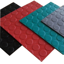 Colored 3mm 6mm round dot coin stud rubber sheet
