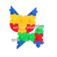 Los niños de plástico preescolar bloques de construcción juguete con SGS EN 71