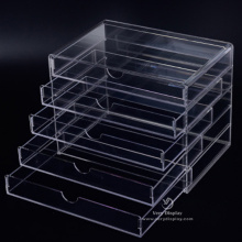Acrylic storage case organizer drawers
