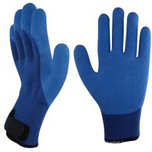 NMSAFETY 7 Gauge Crinkle Latex trempé paume acrylique en tricot de protection contre le froid de Terry-Knit