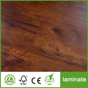 Piso laminados en relieve de 12 mm