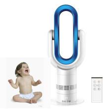 Ventilateur de chauffage sans lame en gros intelligent ABS 1800W blanc bleu (chaud & froid)