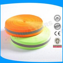 Lime / color naranja Recorte reflexivo con hierro en la cinta en el medio