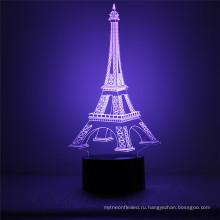 Крытый домашнего декора подарки Новый 3D Цвет-изменяя СИД управлением касания стол стол Ночной свет