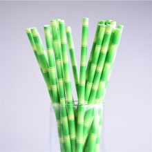 Green party drinking straws