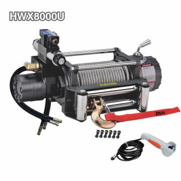 Cabrestante hidráulico 4wd 8000lbs con accesorios hidráulicos