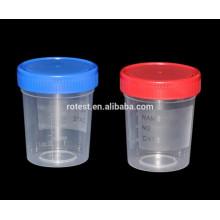 recipiente de urina feminino de plástico estéril