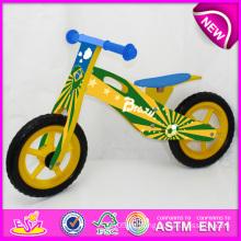 2014 neues hölzernes Fahrrad-Spielzeug für Kinder, populäres hölzernes Balancen-Fahrrad-Spielzeug für Kinder, hölzernes Spielzeug-Fahrrad der Mode für Baby-Fabrik W16c080