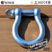 Grillete europeo galvanizado forjado del arco del acero de carbono Q235