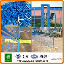 Panneau de clôture temporaire soudé revêtu de PVC (fabricant ISO9001)