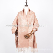 women wool jacquard shawl