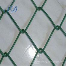 Valla de enlace de cadena de PVC de color verde decorativo