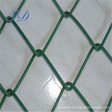 Dekorative grüne Farbe PVC-Kettenglied-Zaun