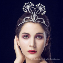 Tiaras und Crown Günstige 14 White Edelstein Ring König und Queen Crown