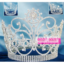 newest hot selling diamond crystal beauty pageant crown