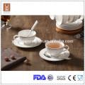 Eco-friendly espresso ceramic coffee cup and saucer set