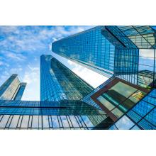 Безрамное Прокатанное стекло для Ненесущей стены здания