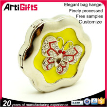 Logotipo personalizado de metal bolsa de regalo llavero