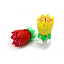 SRL1001 Double Petal Colored Singing Birthday Candle