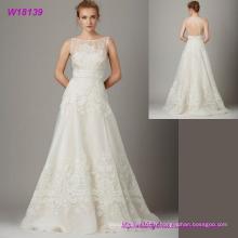 Robe de mariée sans manches dernière conception robe de mariée en dentelle de style nouveau style