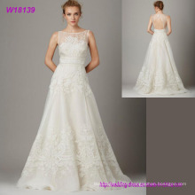 Latest Design Sleeveless Bride Dress New Style Sexy Lace Wedding Dress