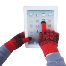 Men′s Fashion Jacquard Knitted Winter Warm Touch Screen Gloves (YKY5461)