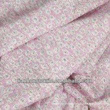 Twill Flower Printing Poplin Women Dress Shirt Pajamas Cotton Fabric