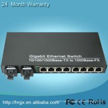 commutateur de fibre 8 ports sfp + 2 ports RJ45 de commutateur de réseau professionnel