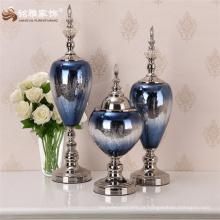 Vaso de vidro presente de escritório artesanato personalizado para decoração de casa nova ornamento de mesa interior