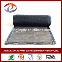 Courroie transporteuse en fibre de verre revêtue de téflon résistant à la chaleur à chaud