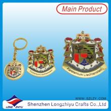 Insignia de tamaño personalizado placa chapada en oro para la promoción (lzy00072)