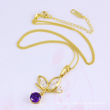 32329 nova moda feminina 18k banhado a ouro peixe jóias pingente em cobre ambiental