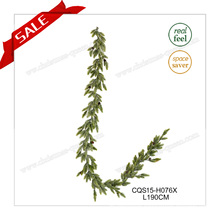 6FT Unlit Artificial Flower Christmas Garland Plastic Christmas Decorations Crafts