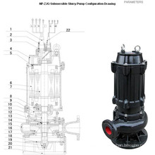 Factory Sales Pompe d'eaux usées brutes