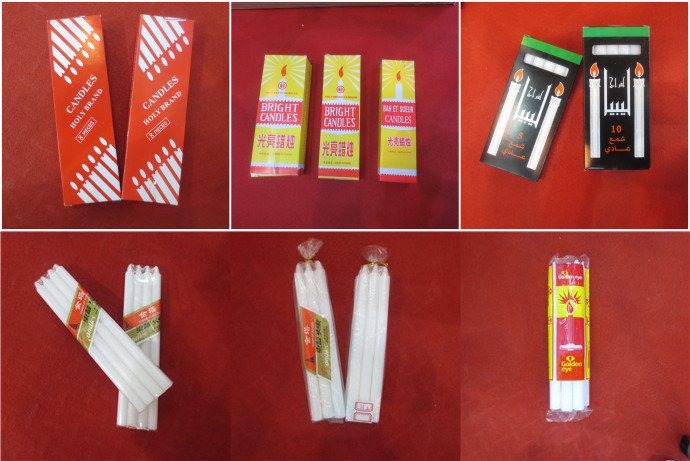 Cellophane Package White Candle
