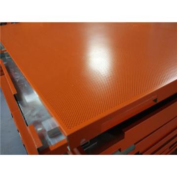Techos de nido de abeja de aluminio perforado de color naranja