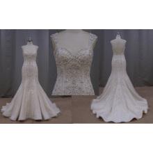 Vestido de novia sirena con espalda baja