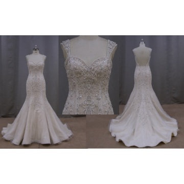 Popular Dress Fiber Optic High Low Lace Evening Dress