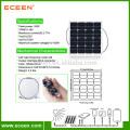Panneau solaire semi flexible pour le kit d'énergie solaire Ensemble de technologie de sac de voyage