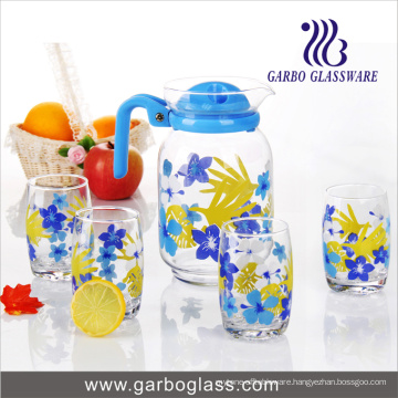 Printing 7PCS Drinking Glass Water Set