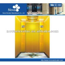 Hairline/etching/mirror stainless steel elevator for office,large load