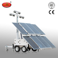 Portable Mobile Solar Powered Mobile Light Tower