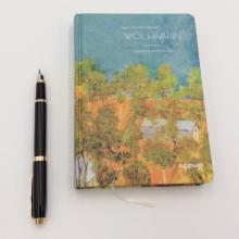 Caderno de pintura retro de papel
