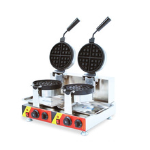 Waffle Biscuit Cookie Cracker Maker/double-headed Waffle Oven Commercial Electric Waffle Machine Muffin Snack Equipment 304 SUS