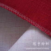 Fr Polyester Linen Fabric with Compound Backing Coated