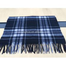 2016 hot sale blue grid shawl