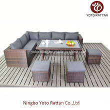 Outdoor Furniture Rattan Sofa with Table (1204)