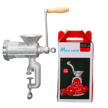 Castiron Meat Mincer with Wooden Handle