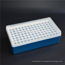 Caja de plástico de tubo de centrífuga micro de 0.5 ml 98 pozo