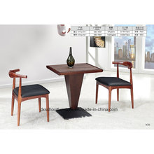 Ox Horn Solid Wood Table and Chair for Dining Room